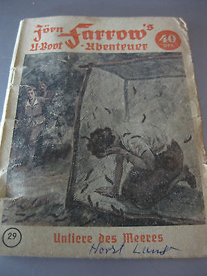 Jörn Farrow's U-Boot - Abenteuer Nr. 29 Untiere des Meeres 1952