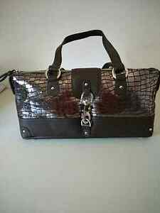 Geniune Leather handbag chocolate colour Cherrybrook Hornsby Area Preview