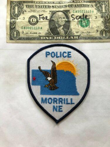 Morrill Nebraska Police Patch Un-sewn in great shape