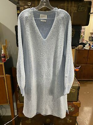 Eleven Six Baby Alpaca Blend Long Sweater Dress Size Medium / Large Baby Alpaca Blend