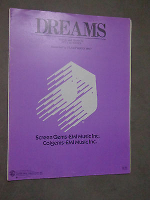 Stevie Nicks Fleetwood Mac  Dreams  Sheet Music Original Vintage