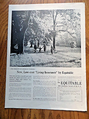 1954 Equitable Life Insurance Ad Living Insurance