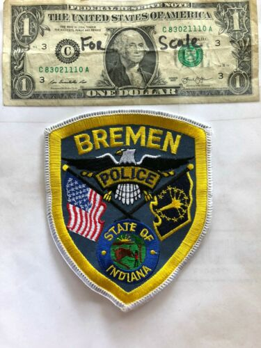 Bremen Indiana Police Patch Un-sewn great shape
