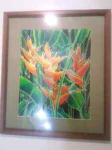 Borneo silk painting Cannon Hill Brisbane South East Preview