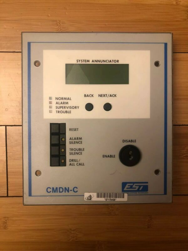 Used EST Edwards CMDN-C Fire Alarm Control Panel Annunciator