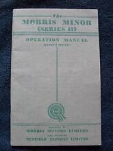 The Morris Minor [series II ] Operation Manual, Seventh Edition Barrington Gloucester Area Preview