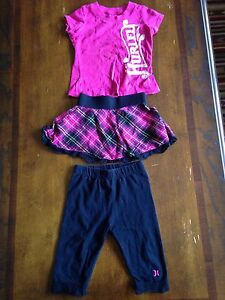 Girls 3 piece  Hurley outfit. 24 mths