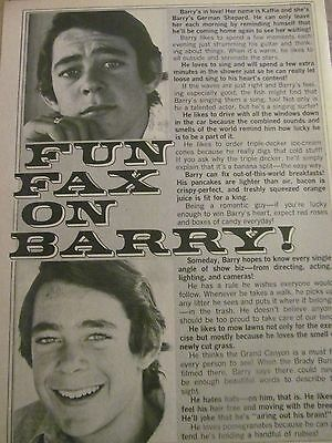 Barry Williams, The Brady Bunch, Full Page Vintage Clipping