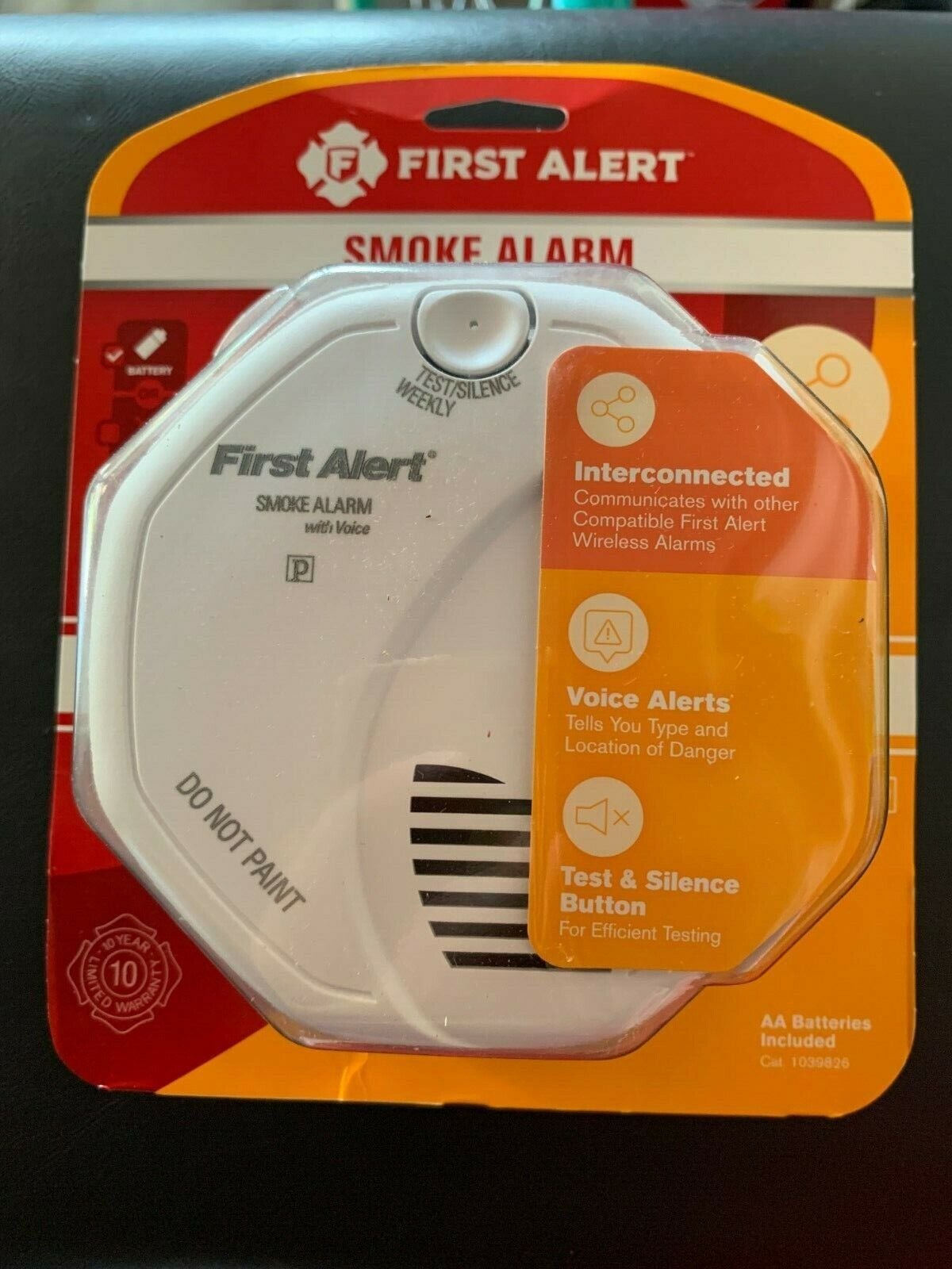 First Alert Wireless Battery-Powered 3-Volt Photoelectric Se