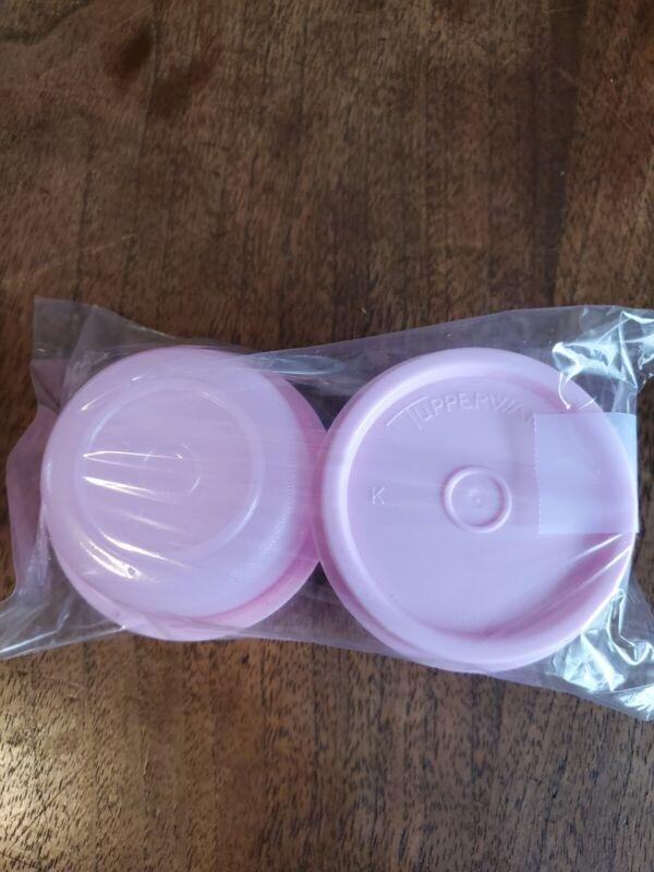 New TUPPERWARE Smidgets w/ Seals PINK Set of 2 FREE US SHIPPING
