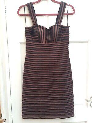 JS Boutique Dress - Brown and black ribbon dress - size 8