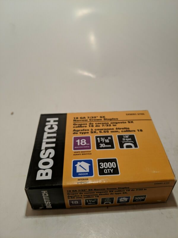*BOX OF 3000* BOSTITCH STAPLES SX5035 1-1/8G