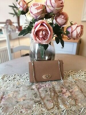 Genuine Mulberry Mini Bayswater  clutch in tan