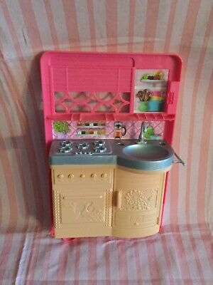 2014 Barbie Dream Camper Motor Home RV SKU# CJT42 Replacement Kitchen Rear End