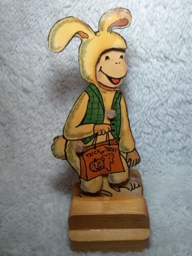 Curious George Wooden Paper Doll Set, Wooden Hanging Monkeys, Metal Lunch Box