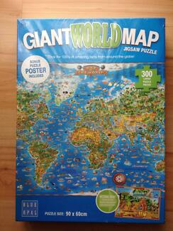 As new world map puzzle 500 piece toys indoor gumtree giant world map 300 large piece jigsaw puzzle sciox Gallery