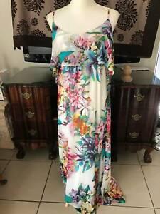 Just Jeans Boho Maxi Dress Size 12 VGC