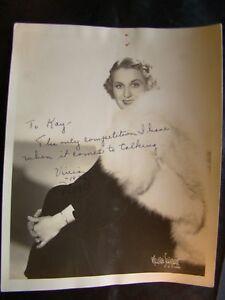 Vivian Della Chiesa Autographed 8X10 Photo 1940's Opera Star from Indiana #5