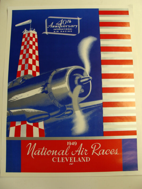 1949 NATIONAL AIR RACES POSTER CLEVELAND OHIO