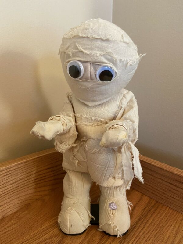 "Vintage 12"" GEMMY Dancing Animated Halloween Mummy Michael Jackson Thriller Rare"