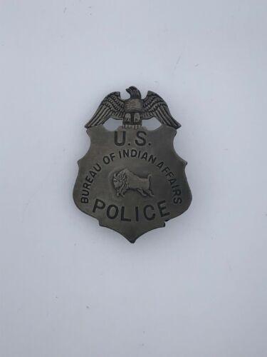 Vintage Bureau of Indian Affairs U.S. Police Pin Back Badge Eagle Bull - Novelty
