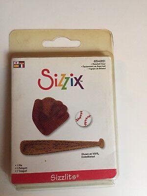 Sizzix Sizzlits Baseball Gear Die 654852 Retired & Rare BNIP