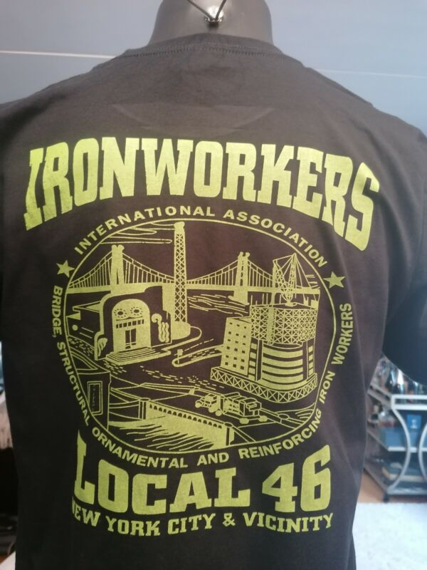 Iron Workers Union Local 46 Rebar, Rodbusters, Lathers ironworkers Tshirt size M