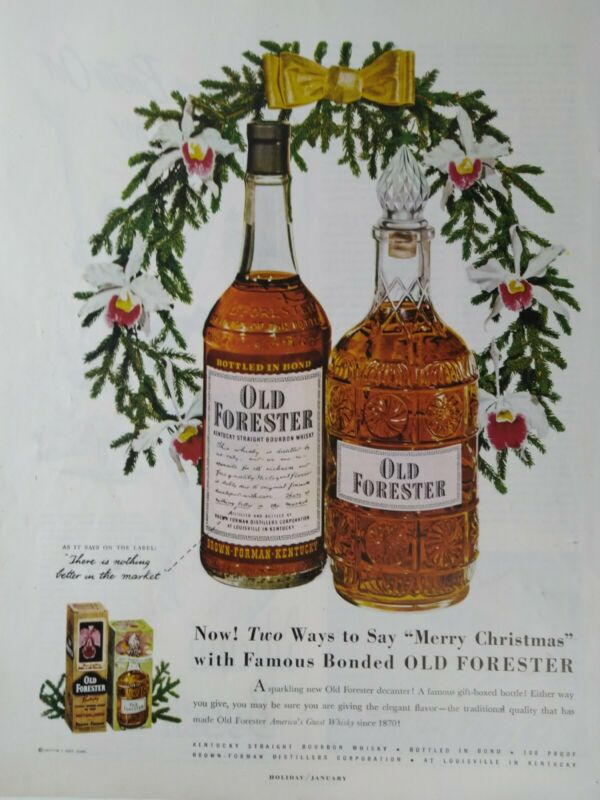 Old Forester Whiskey Original Color Print Ad 1951 Liquor Alcohol Advertisement