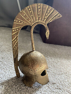 Vintage Brass Bell Greek Roman Trojan Gladiator Helmet