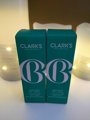 Clark's Botanicals Anti-Puff Eye Cream, 0.5 fl oz 2- Pack New in Box