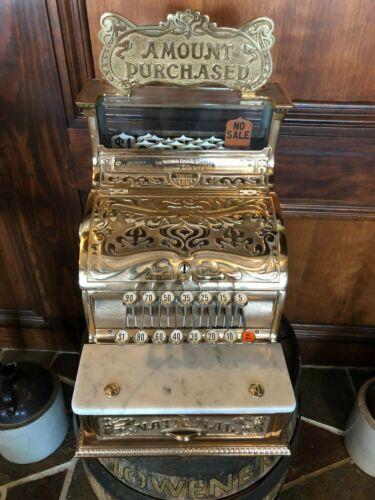 Antique National Cash Register 130 Art Nouveau