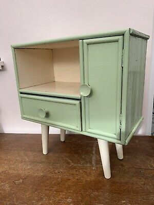 Vintage 60s Mid Century Mini Sideboard Unit Tv Stand Cupboard