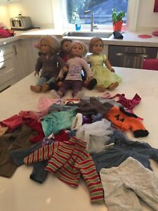 American girl dolls, bed, clothes