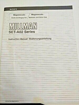 Sony Millman Set-a02 Dro System Instruction Manual