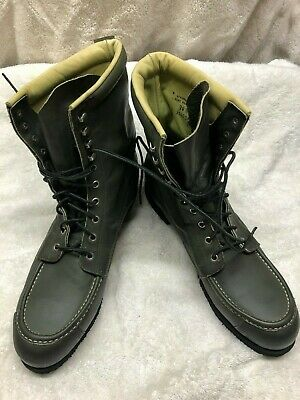 Cabela's Hunting Boots Vintage 14 B Mens KANGAROO Leather Upland Green Kangaroo Hunting Boot
