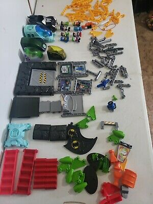 Fisher Price Mattel TRIO Building Blocks Lot Of 280 Batman