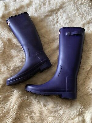 Hunter Boots Tall Matte Purple Size 10