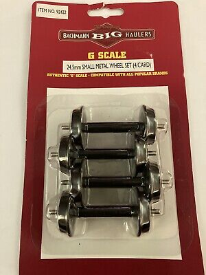 Bachmann Big Haulers G Scale 24.5 Mm Small Metal Wheel Set Of Four Item No 92422