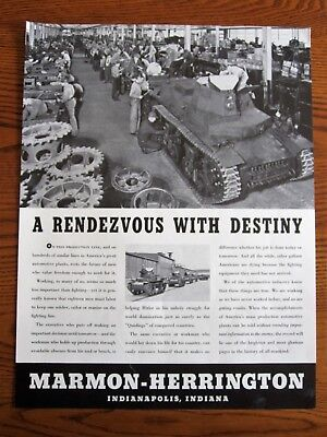 Army Tank Assembly Line early production    ,WWII Ad, original