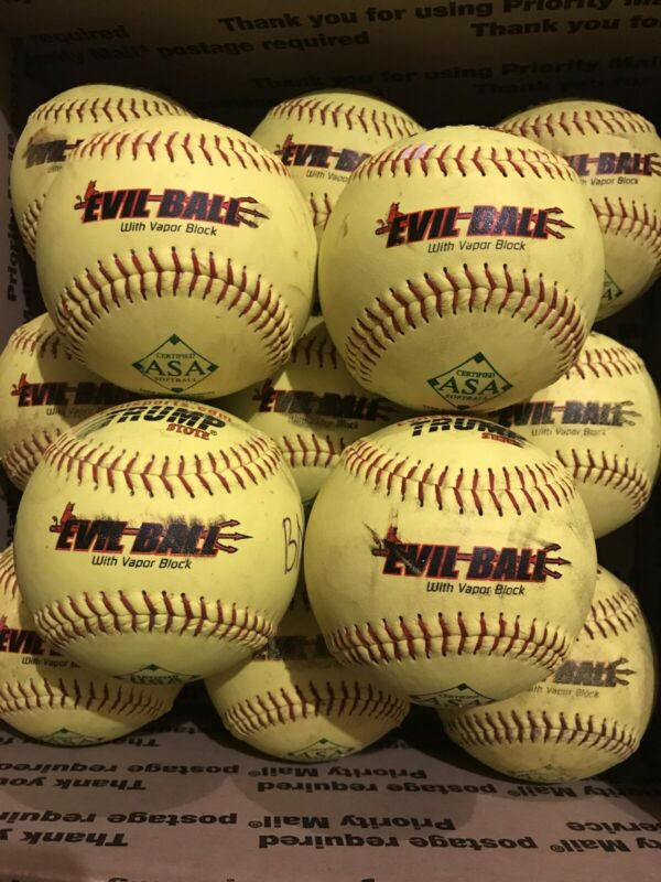 13 TRUMP STOTE EVIL BALL Slowpitch Softballs ASA .52 Core 300. NICE 1