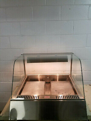 Heated Humidified Food Warmer Display Case Missing Back Glass 120 Volts Tested