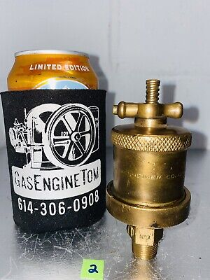 Lunkenheimer No. 1 T-handle Automatic Brass Grease Cup Oiler Hit Miss Vintage