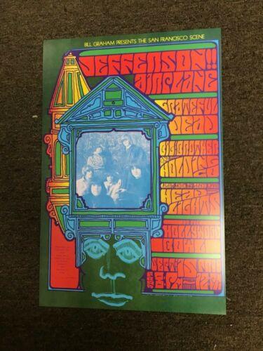 "Jefferson Airplane Grateful Dead 1967 Cardstock Concert Poster 12"" x 18"""