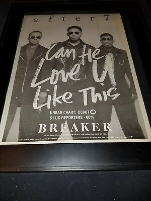 After 7 Can He Love U Like This Rare Original Radio Promo Poster Ad Framed!