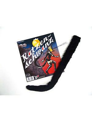Katzenschwanz Schnurrhaare schw. Kostüm Katze Karneval