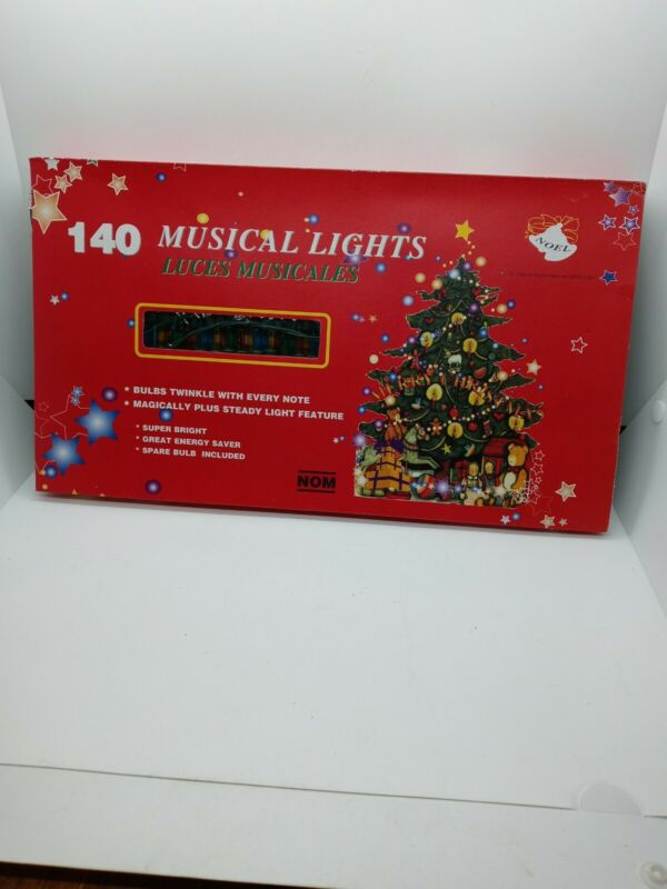 Nom 140 Count Musical Christmas Lights. New Old Stock