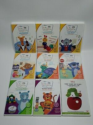 Disney Baby Einstein Collection DVD lot of 9 Digital Board Books Eric Carle