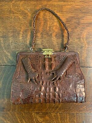 1930s Handbags and Purses Fashion Antique Estate Alligator Skin Handbag 1930s $150.00 AT vintagedancer.com