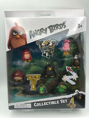 Angry Birds: The Movie (7 Mini Figure Collectible Play Set) Brand New