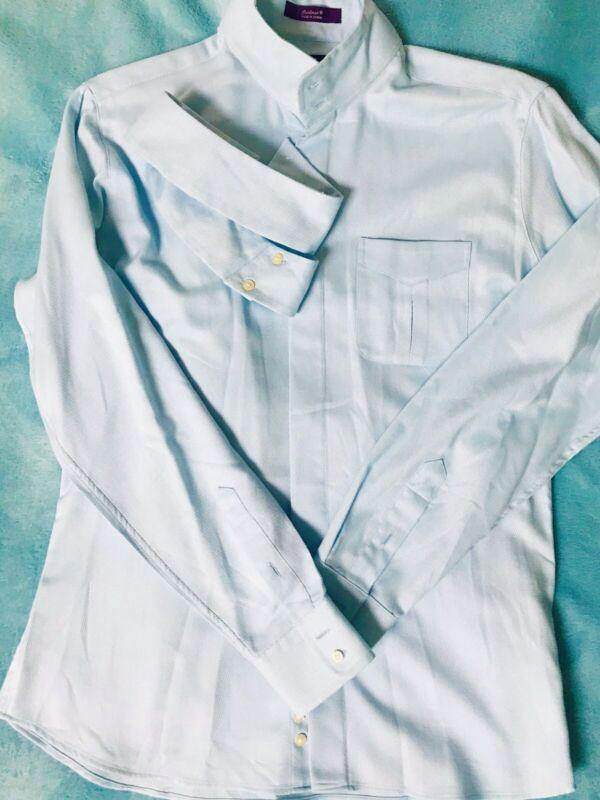 Essex Classics CoolMax Performance Collection Womens Shirt Light Blue Sz 40